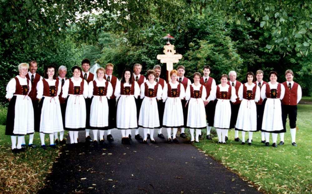 Gruppenbild der Winzertanzgruppe